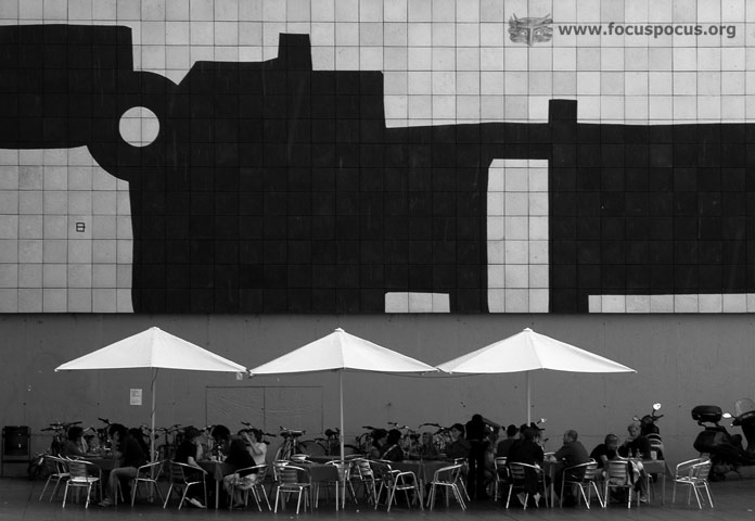 Cafe outside the MACBA