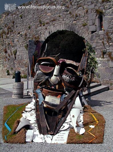 Bernard Pras sculpture at Spanish Arch