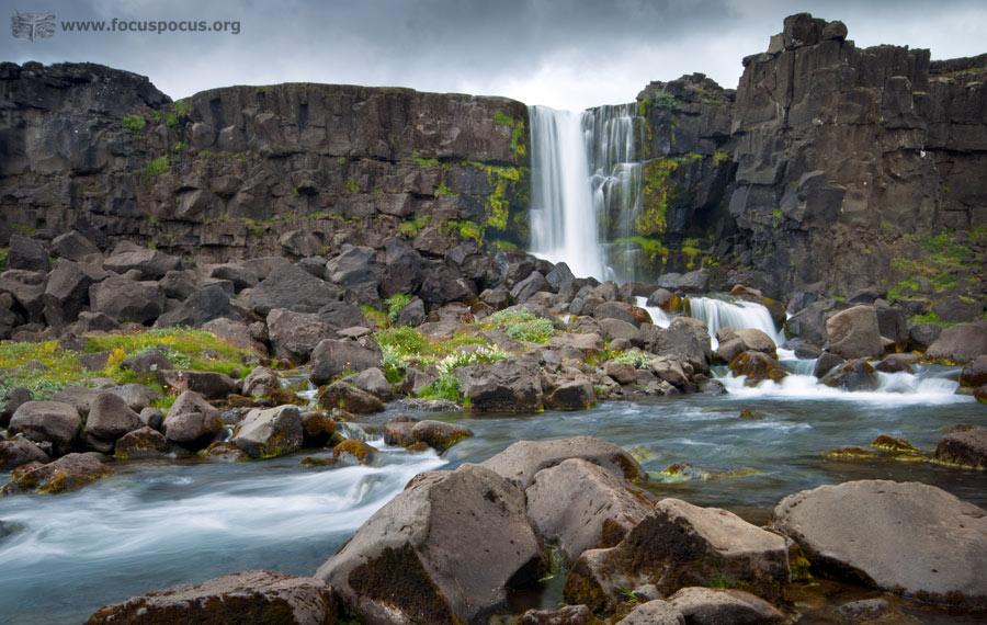 Öxarárfoss Waterfall at Thingvellir Park