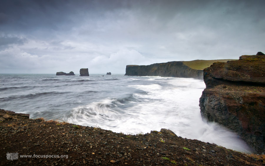 Cliffs at Reynisfjara Beach
